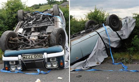 rolled royce a classic rolls royce is totalled and the new owner has no