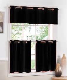 Black Kitchen Curtains And Valances Jackson Kitchen Curtains Lorraine Grommet Valances