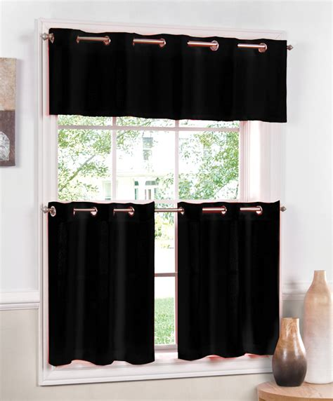 jackson grommet kitchen curtains black lorraine