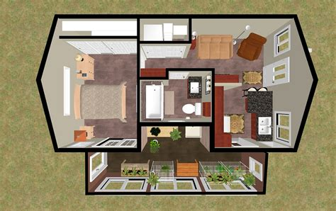 hidden room plans cozyhomeplans com 424 sq ft small house floor plan concept