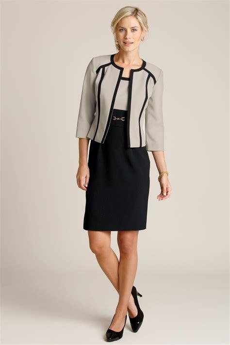 Dress Set tipped jacket dress set by studio 1 chadwicks of boston