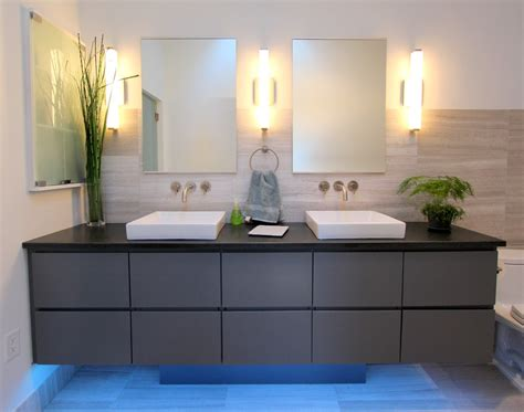 Long wall sconces bathroom contemporary with custom woodwork double vanity beeyoutifullife com