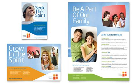 Free Design Templates For Advertising | church youth ministry flyer ad template design