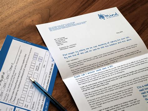 Fundraising Letter Design Mind Charity Direct Mail Artwork