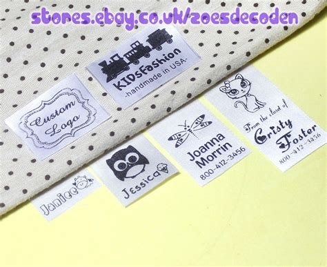 Personalized Handmade Labels - 30x custom clothes logo label sew in hanging tag fabric