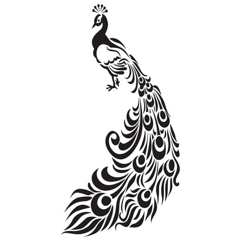 ornate peacock with feathers bird wall sticker world of