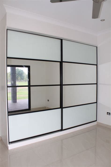 Glass Panel Door Picture Frame Sliding Wardrobe Doors Composite 4 Panel Doors White