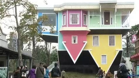 upside down house a look inside taipei s upside down house bbc news