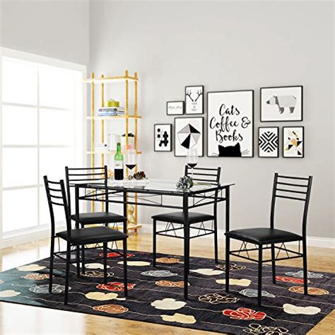 vecelo dining table with 4 chairs black vecelo dining table with 4 chairs black import it all