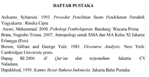 format penulisan daftar pustaka untuk skripsi contoh penulisan daftar pustaka dari buku jurnal