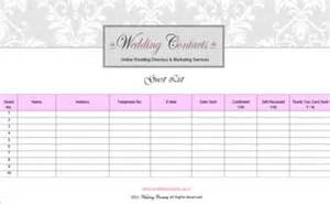 Wedding Guest List Template Pics Photos Wedding Guest List Templates
