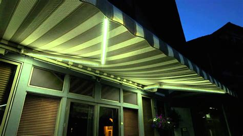 awning lighting sunsetter dimming led lights lateral awning youtube