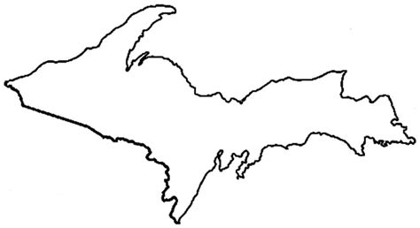 outline template of upper peninsula of michigan google