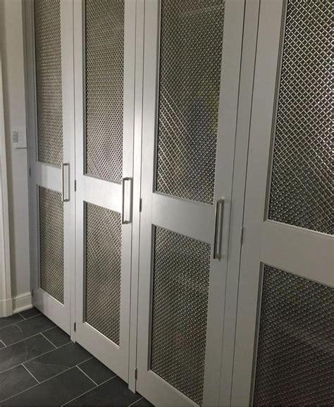 mesh grille closet doors inset chicken wire closet door