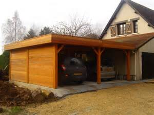 garage bois toit plat garage en bois toit plat mzaol