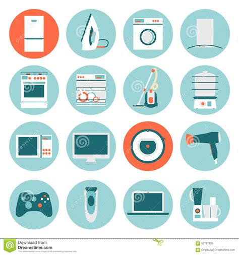 flat design icon vector kitchen electronics flat design icons set vector