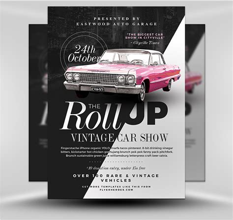 Auto Show 2017 Flyer Template Flyerheroes Ad Template 2017