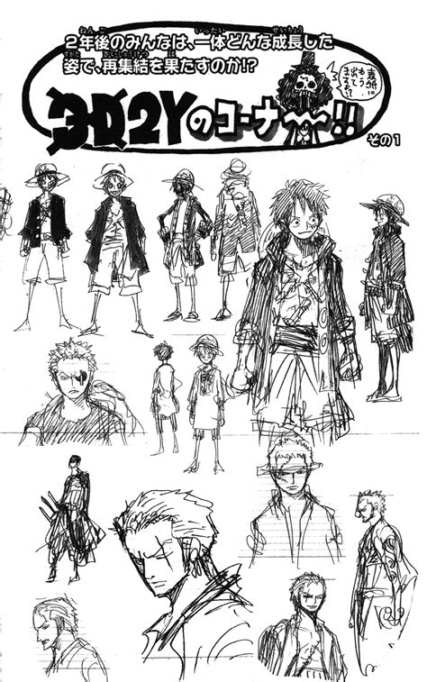 Let's talk about Oda's concept art for various characters