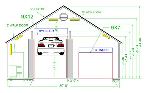 Free Blueprints garage planned for a lift