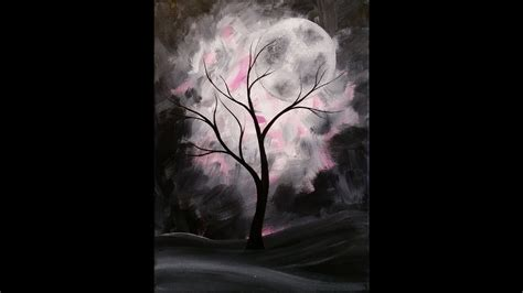 acrylic painting mystical moons planet mystical moon step by step acrylic painting on canvas for