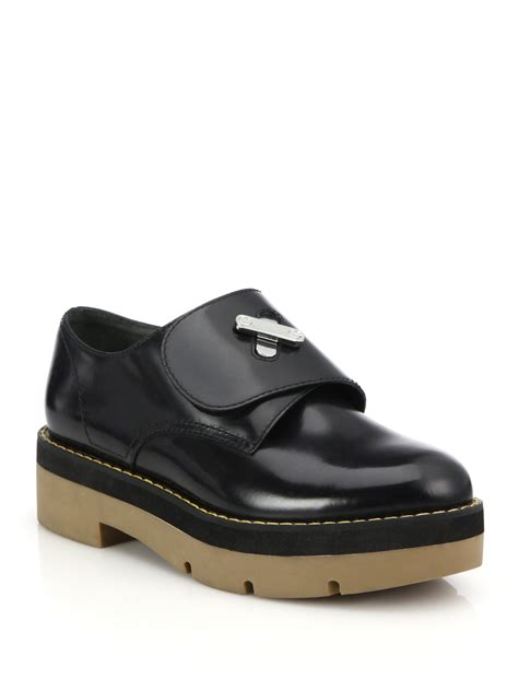 platform oxford shoes lyst wang dillion platform oxford shoes in black
