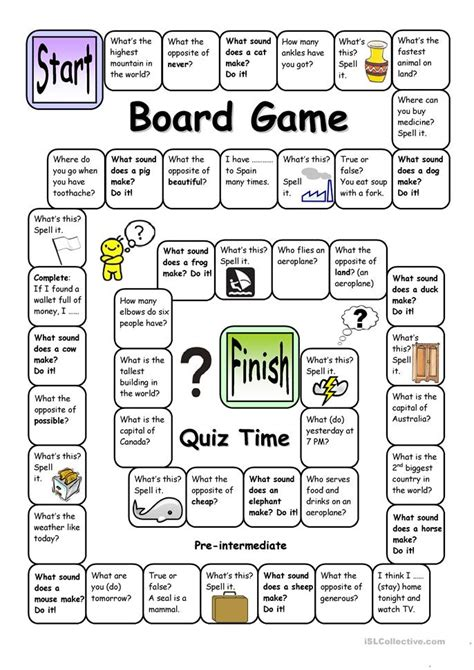 printable board games time prepositions of time exercises pre intermediate 82 free