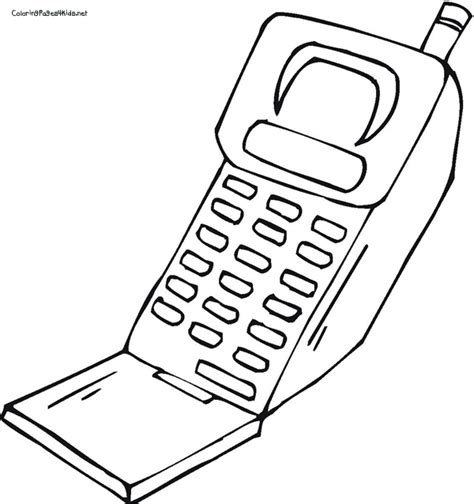 cell phone keyboard coloring page coloring pages