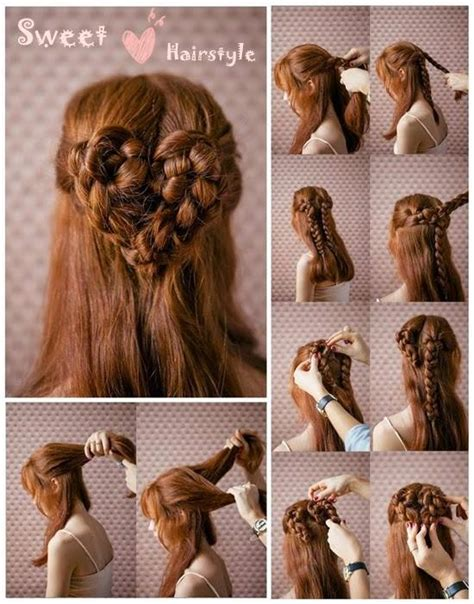 braided hairstyles heart the most romantic hairstyle heart braid alldaychic