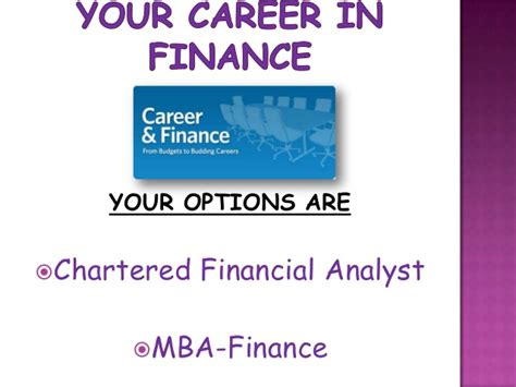 Mba Finance Lectures by Chartered Financial Analyst Vs Mba Finance