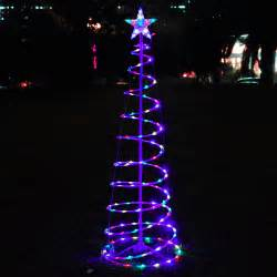 led lighted christmas decorations 6 color changing led spiral tree lights outdoor indoor