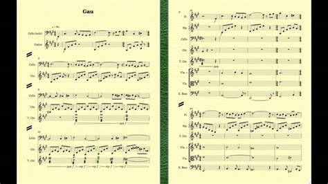 final sections in music 18 gau s theme sheet music final fantasy vi sibelius