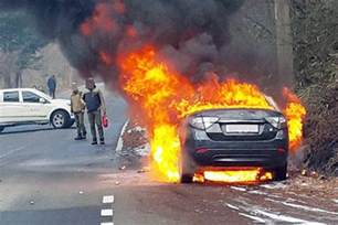 Electric Vehicle Battery Explosion Renault Samsung S Electric Vehicle Catches Due To