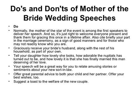 How to make your mother of the bride speech lovingly