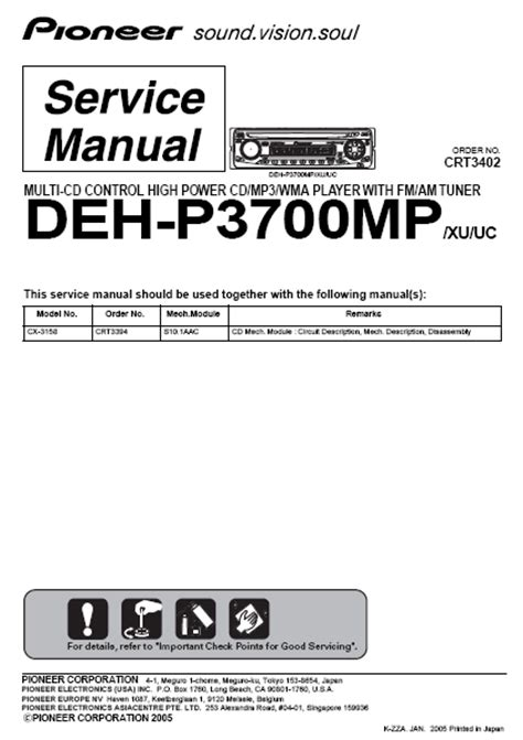 wiring diagram for pioneer deh p3700mp get free image