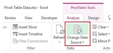Change Pivot Table Source Data How To Refresh Pivot Table In Excel