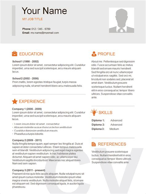 simple resume template free 70 basic resume templates pdf doc psd free premium templates