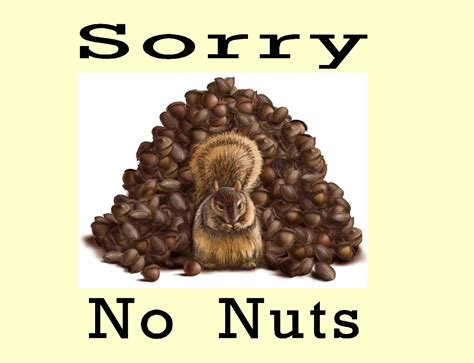 No 1 Nuts free posters and signs sorry no nuts