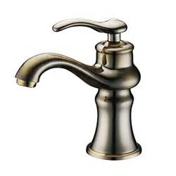 antique single handle bathroom sink faucet