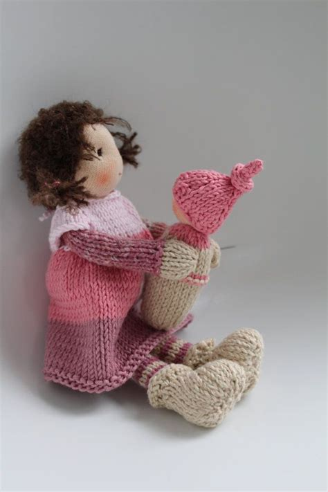 knitted waldorf doll pattern reserved for sylvie waldorf knitted doll with