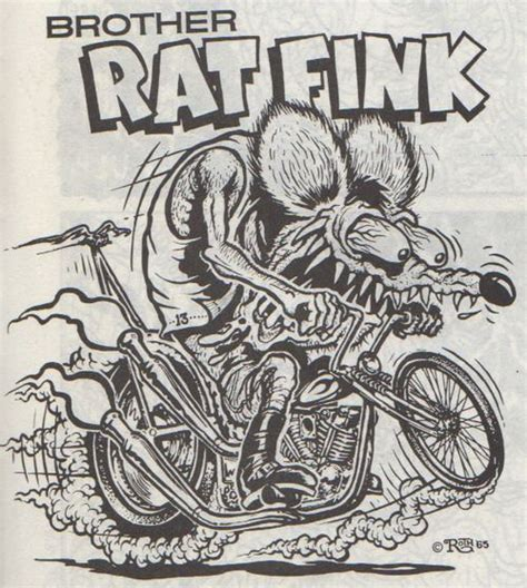 Ed Roth Cartoon Ed Roth Phreek Pinterest Rat Rod Coloring In