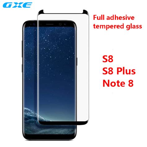 Samsung Galaxy Note 8 Half Frame Tempered Glass 3d Curved Gxe Friendly Glue Tempered Glass For Samsung