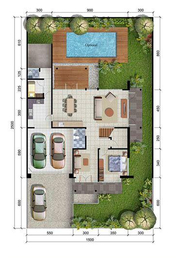 denah rumah minimalis ukuran  meter  kamar tidur  lantai tampak depan  inspirasi