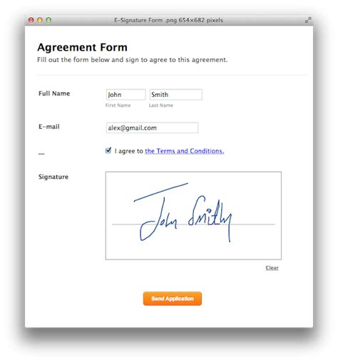 electronic signature template announcing e signatures for forms