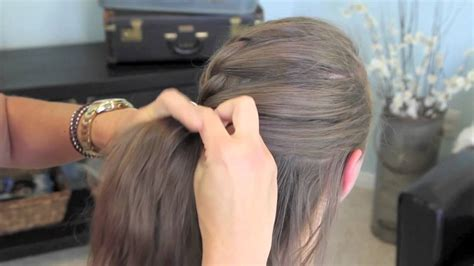 cute girl hairstyles youtube french braid french twist into rope braid back to school cute girls
