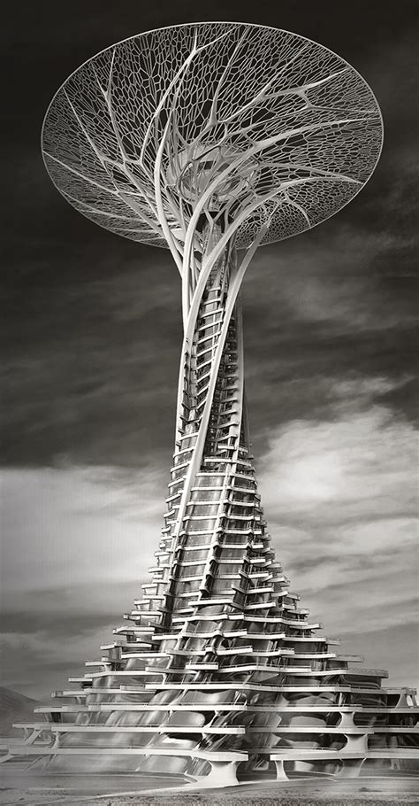 babel a blog of modern architecture solar powered 3d printed tower yanko design