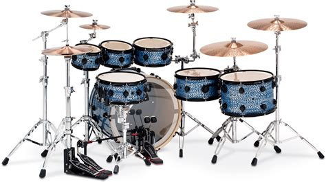 imagenes baterias musicales dw collector s series blue silk onyx finishply with black