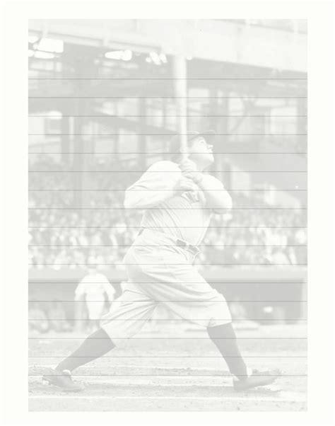 printable baseball stationery paper free printable baseball stationary stationery