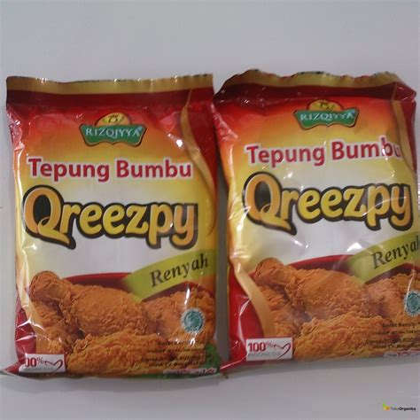 Tepung Bumbu Qreezpy 125 Gram detil produk tepung bumbu qreezpy non msg 125gr
