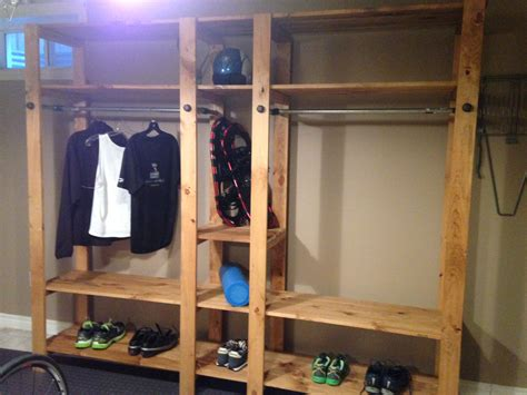 white industrial closet system diy projects