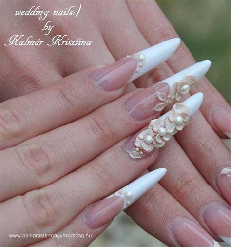 imagenes de uñas acrilicas para novias u 241 as acr 237 licas para bodas u 241 as pinterest
